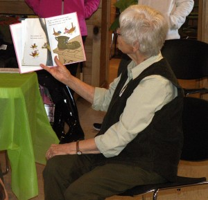 Gifted volunteer Sue Graham loves reading aloud.